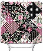 Fiore geometrico, a scacchi, punto, colorato tenda