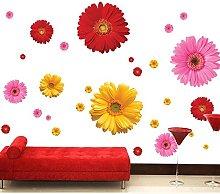 Fiori colorati Adesivi murali floreali Soggiorno