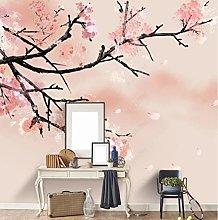 Fiori di ciliegio albero sfondo parete meticoloso