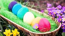 Fiori E Uova Multicolori 35 Pezzi Puzzle In Legno