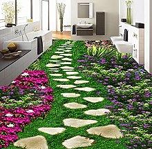 Fiori floreali Pietra Piccola strada 3D Adesivo