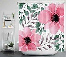 Fiori rosa acquerello con ricchezze e foglie verdi
