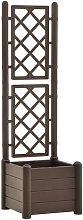 Fioriera da Giardino con Graticcio 43x43x142 cm PP