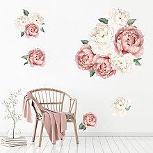 Fioritura peonia rosa fiori stampa carta da parati