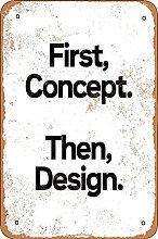 First Concert Then Design Retro Look 20X30 CM