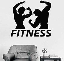 Fitness Adesivo Coppia Muscolo Bodybuilding