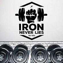 Fitness adesivo da parete in ferro non ti mentirà