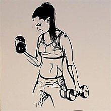Fitness Adesivo Sport Ragazza Vinile Adesivo