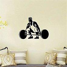 Fitness Wall Sticker Sport Uomo Sollevamento Pesi