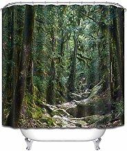 Fiume di montagna, verde e fresco tenda da doccia