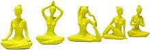 FLAMEER 5PCS Resina Yoga Meditazione Statua Yoga