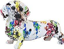 FLAMEER Creativo colorato cane scultura