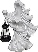 FLAMEER Fantasma senza volto Statua Indoor Outdoor