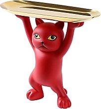 FLAMEER Resina Cat Figurine Statua Decorazione