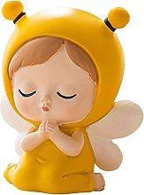 FLAMEER Salvadanaio ape ragazza, statua scultura