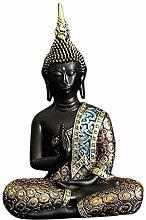 FLAMEER Statua di Buddha Zen seduto Buddha
