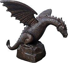 FLAMEER Statua Fontana di Acqua Statua del Drago,