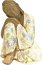 FLAMEER Statuetta di Ornamento di Statue di Buddha
