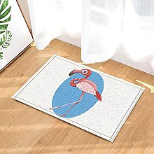 Flamingo blu sveglio del fumetto Tappetino da