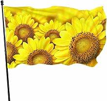 Fldong - Bandiere da giardino con girasole, stile