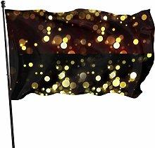Fldong - Bandiere da giardino con glitter in oro e