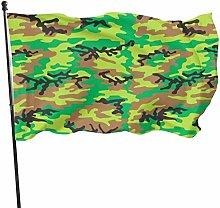 Fldong - Bandiere da giardino con motivo mimetico,