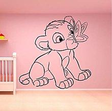 floolter Adesivo murale Animale Leone Cartoon