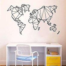 floolter Art World Map Decoration Adesivi murali
