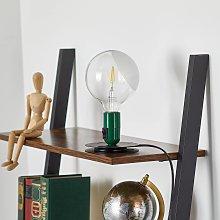 FLOS Lampadina LED da tavolo verde, base nera