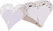 FLOWOW 100x Cuore Decorazioni Perlato Bianco segna