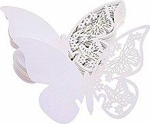 FLOWOW 100x Farfalla Decorazioni Perlato Bianco