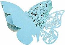 FLOWOW 100x Farfalla Decorazioni Perlato Blu segna