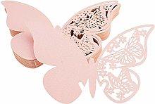 FLOWOW 100x Farfalla Decorazioni Perlato Rosa