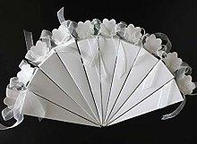 FLOWOW 50* bianco Forma di gelato cono Coni