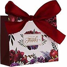 FLOWOW 50x11.5 * 4.5 * 10cm Fiore Rosso Piccolo