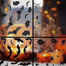 FLTY Adesivo Murale Ragno Pipistrello, 8pcs,Set di