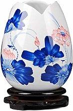 FMOGQ vaso in porcellana blu e bianca, vaso in
