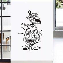 Foglia di loto Adesivo da parete di loto Soggiorno