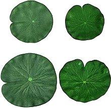 Foglia di loto artificiale, 4 pezzi di foglie di