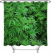 Foglie verdi esotiche stampa HD, bagno tenda