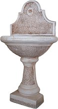Fontana A Parete Da Giardino In Cemento Decorato