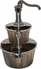 Fontana da giardino Effetto legno Poliresina