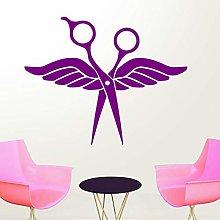 Forbice Parrucchiere Adesivo Per Salone Di