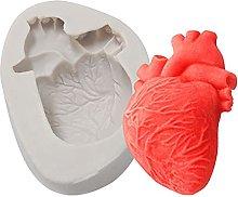 Forma 2pcs Halloween 3D Heart silicone modella