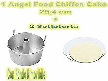 Forma Angel Food,Chiffon Cake in Alluminio