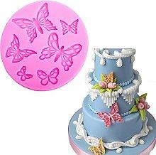 Forma di farfalla 3D mestiere rilievo cioccolato