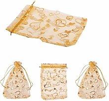 Formemory confezione 100 sacchetti regalo organza