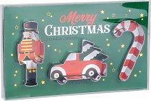 Formine di Natale automobile, schiaccianoci e