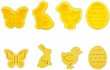 Formine per Biscotti 3D, 4 Pezzi Stampo per