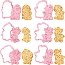 Formine per Biscotti, 6pcs Stampi per Biscotti 3D